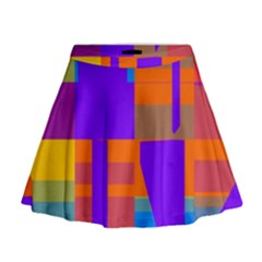 Misc Colorful Shapes                                             Mini Flare Skirt
