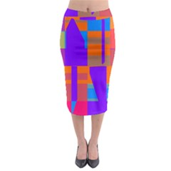 Misc colorful shapes                                             Midi Pencil Skirt