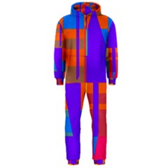 Misc colorful shapes                                           Hooded Jumpsuit (Men)