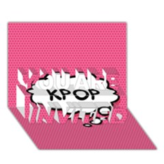 Comic Book Think Kpop Pink YOU ARE INVITED 3D Greeting Card (7x5)