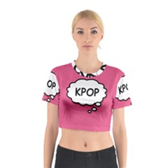 Comic Book Think Kpop Pink Cotton Crop Top