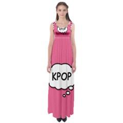 Comic Book Think Kpop Pink Empire Waist Maxi Dress