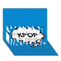 Comic Book Kpop Blue YOU ARE INVITED 3D Greeting Card (7x5)