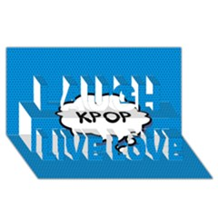 Comic Book Kpop Blue Laugh Live Love 3D Greeting Card (8x4)