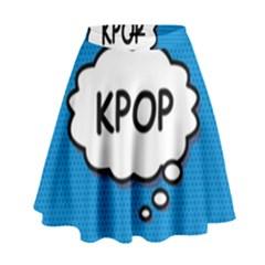 Comic Book Kpop Blue High Waist Skirt