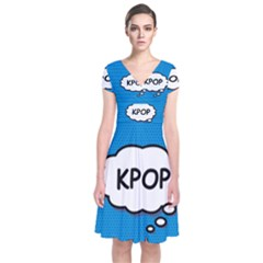 Comic Book Kpop Blue Wrap Dress