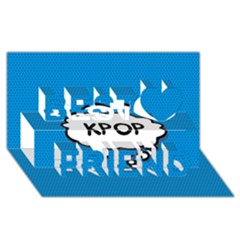 Comic Book Kpop Blue Best Friends 3D Greeting Card (8x4)