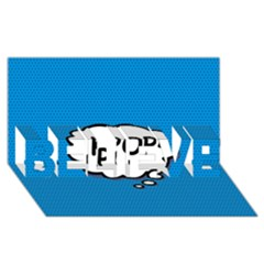 Comic Book Kpop Blue BELIEVE 3D Greeting Card (8x4)