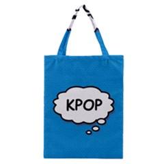 Comic Book Kpop Blue Classic Tote Bag