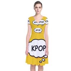 Comic Book Kpop Orange Wrap Dress