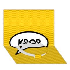 Comic Book Shout Kpop Orange Circle Bottom 3D Greeting Card (7x5)