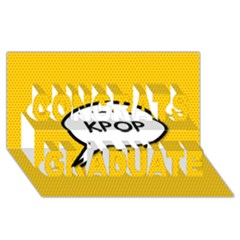 Comic Book Shout Kpop Orange Congrats Graduate 3D Greeting Card (8x4)