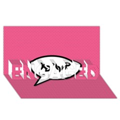 Comic Book Shout Kpop Pink ENGAGED 3D Greeting Card (8x4)