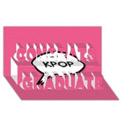 Comic Book Shout Kpop Pink Congrats Graduate 3D Greeting Card (8x4)