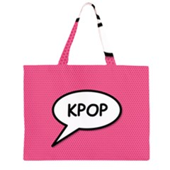 Comic Book Shout Kpop Pink Large Tote Bag