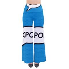Comic Book Shout Kpop (Blue) Pants