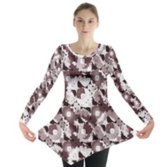 Ornate Modern Floral Long Sleeve Tunic