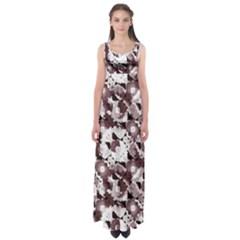 Ornate Modern Floral Empire Waist Maxi Dress