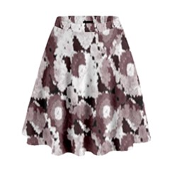 Ornate Modern Floral High Waist Skirt