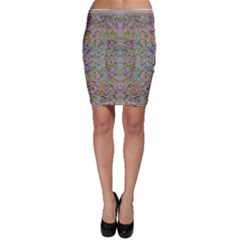 Colors For Peace And Lace In Rainbows In Decorative Style Bodycon Skirt