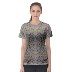 Colors For Peace And Lace In Rainbows In Decorative Style Women s Sport Mesh Tee