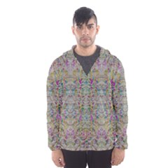 Colors For Peace And Lace In Rainbows In Decorative Style Hooded Wind Breaker (men)