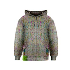 Colors For Peace And Lace In Rainbows In Decorative Style Kids  Zipper Hoodie