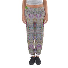 Colors For Peace And Lace In Rainbows In Decorative Style Women s Jogger Sweatpants