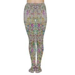 Colors For Peace And Lace In Rainbows In Decorative Style Women s Tights