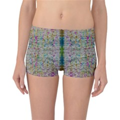 Colors For Peace And Lace In Rainbows In Decorative Style Reversible Boyleg Bikini Bottoms