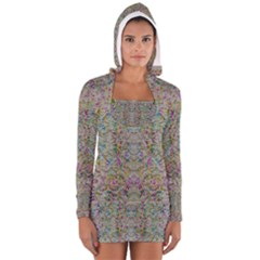 Colors For Peace And Lace In Rainbows In Decorative Style Women s Long Sleeve Hooded T-shirt