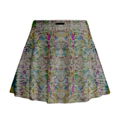 Colors For Peace And Lace In Rainbows In Decorative Style Mini Flare Skirt