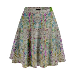 Colors For Peace And Lace In Rainbows In Decorative Style High Waist Skirt