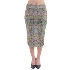 Colors For Peace And Lace In Rainbows In Decorative Style Midi Pencil Skirt