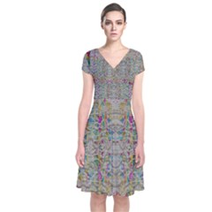 Colors For Peace And Lace In Rainbows In Decorative Style Wrap Dress