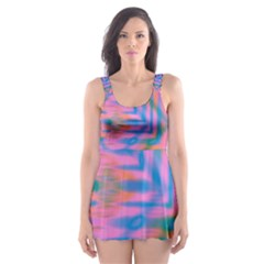Colorful Abstract Skater Dress Swimsuit