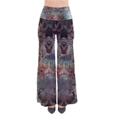 Metallic Copper Urban Grunge Patina Texture Women s Chic Palazzo Pants