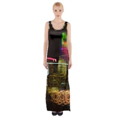 NYC lights Maxi Thigh Split Dress