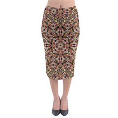 Boho Chic Midi Pencil Skirt