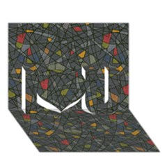 Abstract Reg I Love You 3d Greeting Card (7x5)