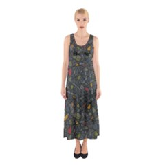 Abstract Reg Sleeveless Maxi Dress