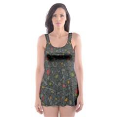 Abstract Reg Skater Dress Swimsuit