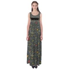 Abstract Reg Empire Waist Maxi Dress