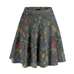 Abstract Reg High Waist Skirt