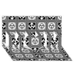 Black And White MOM 3D Greeting Card (8x4)