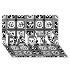 Black And White PARTY 3D Greeting Card (8x4)