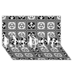 Black And White BELIEVE 3D Greeting Card (8x4)