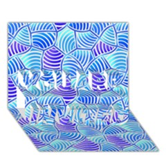 Blue And Purple Glowing You Are Invited 3d Greeting Card (7x5)
