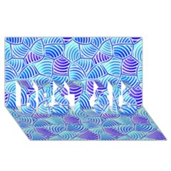 Blue And Purple Glowing BEST SIS 3D Greeting Card (8x4)