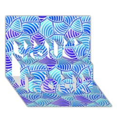 Blue And Purple Glowing You Rock 3d Greeting Card (7x5)